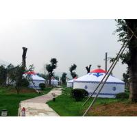 Buy cheap Luxury White Traditional Mongolian Yurt Tent Aluminum And Bamboo Structural from Wholesalers