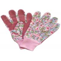 Back Elastic Line Mixed Cotton / Poly Working Hands Gloves With Knit Wrist