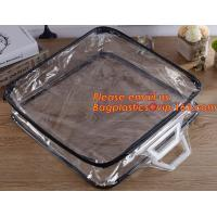 Buy cheap Eco-friendly wholesale travel cosmetic bag clear zipper pvc cosmetic bag for women product
