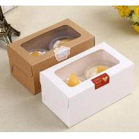 Buy cheap Lovely Paper Dessert / Bakery Packaging Boxes With Clear Window Eco Friendly product