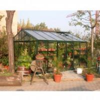 Buy cheap royal innovative luxurious glazing plan tempered glass glsshouse/garden hutch for garden houseHX91503L product