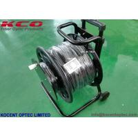 Buy cheap 1Km 10G 40G Armored Fiber Optic Cable 2fo 4fo TPU Field Operating Tactical Military Cable Reel product
