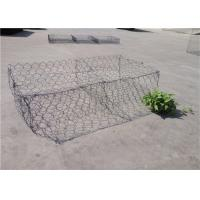 Buy cheap Double - Twisted Hexagonal Gabion Mesh PVC Coated Wire Stone Gabion Cages product