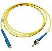 Buy cheap ST to SC Simplex Singlemode 9 / 125 μm Fiber Optic Patch Cord in Yellow PVC Jacket product