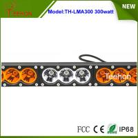 Quality Super bright 300w dual color single row offroad led bar in thick diecast for sale