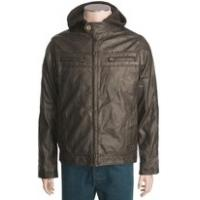 Buy cheap 2012 mens casual black washing leather jacket with take off knitting hood product
