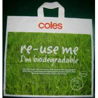 Buy cheap Green Biodegradable Shopping Bags HDPE Plastic for Promotion product