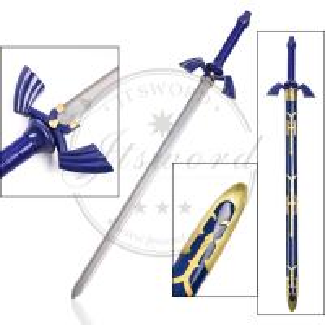Buy cheap Japan Video Game Replica Swords  , Zelda Blue Carbon Steel Link Skyward Sword product