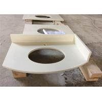 Buy cheap White Polished Special-shaped Artificial  Quartz StoneVanity Tops Acid Resistance product