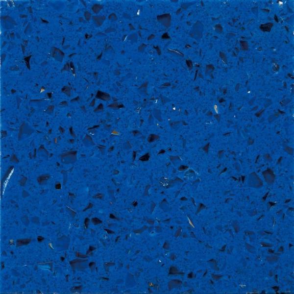 Light Quartz Kitchen Countertops: Crystal Light Blue Artificial Quartz Stone Worktops / Polished Quartz Kitchen Counter Tops