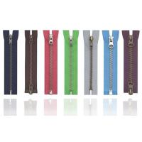 Buy cheap Anti-brass plated Brass Metal Zipper 8# , eco-friendly OEM available for jean jackt product