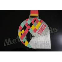 Buy cheap BJJ Logo Zinc Allaoy Custom Sports Medals With Sublimated Ribbon Die Cast  Process product