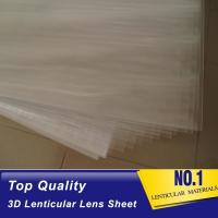 Buy cheap 100lpi 0.58mm PET lenticular sheet  lens plastic film lenticular printing sheet lenticular sheet importer in usa product