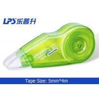 OEM / ODM Plastic Mini Green Colored Correction Tape 5mm X 4m No W955