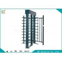 Electronic Full Height Security Turnstiles 120 Degree Rotation Control Pedestian