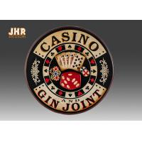 Buy cheap Casino Wall Decor Antique Wooden Wall Signs Decorative Wall Plaques Pub Sign product