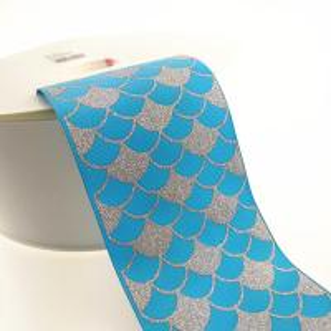 Buy cheap 3 Inch Sparkle Fish Scale Glitter Sparkle Grosgrain Ombre Base Colors ribbon product