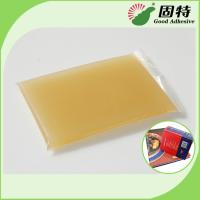 Buy cheap Gelatin resin Amber color Block solid Light Amber High Heat Glue / Hot Melt Glue For Semi Automatic Case Maker product