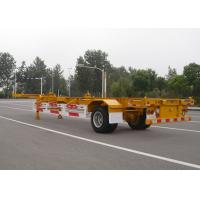 Buy cheap 1 Axle Gooseneck 40 Feet Skeleton Semi Trailer For Cargo Container Transport product