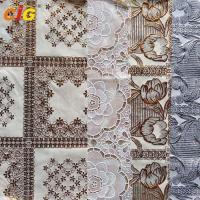 Buy cheap Metallic Printed PVC Transparent Film Lace Tablecloth Various Flower Designs product