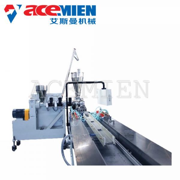 Quality Profile Tile Plastic Extrusion Equipment PVC Faux Marble Stone Strip Durable for sale