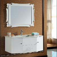 Buy cheap Modern Solid Oak Wood Bathroom Cabinet+Mirrored Cabinet+Marble Countertop from wholesalers