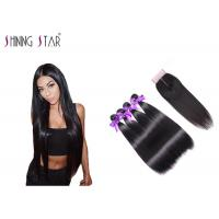 Buy cheap Natural 4Pcs Human Hair Bundles With Closure Straight Of Healthy Hair from wholesalers