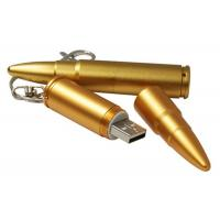 Buy cheap Gold Metal USB 3.0 Flash Drive , Promotional USB Sticks Plated Bullet Shaped product
