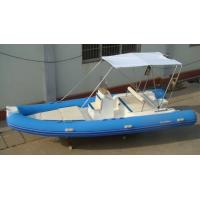 Buy cheap Funsor Marine Semi - fiberglass Inflatable RIB Boats 1980kg Max Load 5.5 meter product