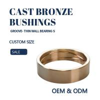 Buy cheap Customzied Groove Bronze Gleitlager Thin Wall  Sleeve & Flange For Excavators product