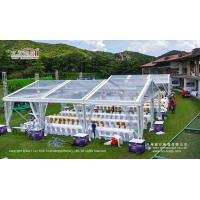 Buy cheap 200-300 People Waterproof Clear Party Tent with Clear Top for Outdoor Parties and Events product