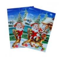 Buy cheap Merry Christmas plastic 3d lenticular lens printing sticker flip animation Wall Sticker product