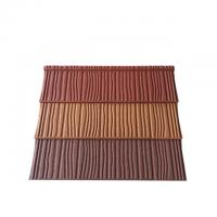 Buy cheap Construction Building Roofing Material Wood Type Stone Coated Metal Roof Tiles product