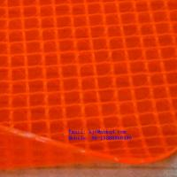 China 0.8mm Fluorescent Orange Transparent PVC Coated Polyester Mesh Fabric on sale