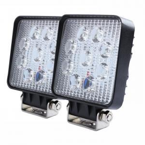 "Buy cheap 27W Square LED Work Light 3W High Power Epistar LEDs Off-road Flood beam 10-30V 4.3"" Slim profile product"