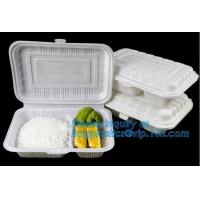 China Compartment Food Container Round Food Containers Rectangular Food Containers Deli Containers BAGEASE BAGPLASTICS PACKAGE on sale