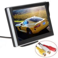 Silver Color Car Reverse Camera With Lcd Monitor , Rear View Monitor System 30ms Response Time