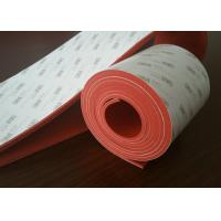 Buy cheap Flexible Dark Red Silicone Rubber Sheet With 3M Adhesive Backed product