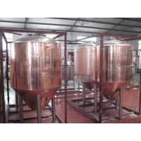 Buy cheap Professional Copper Mirror Small Beer Brewing Systems , Nano Brewery Equipment product