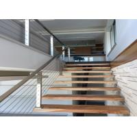 China Energy Conservation Stainless Steel Wire Fence , Stainless Stair Railing Corrosion Resistance on sale
