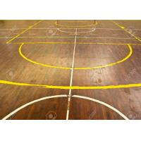 Smooth Recycled Sports Wooden Flooring , Indoor Hardwood Basketball Court