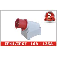 Buy cheap Single Phase 32A IP44 Industrial Plugs / Industrial Power Sockets product