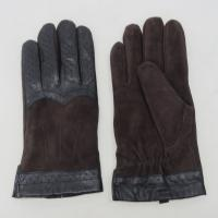 Buy cheap Touch Screen Mens Black Leather Winter Gloves , Soft Plain Style Mens Fashion Gloves product