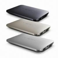 Buy cheap Original Design 4000mAh Power Bank with Aluminum Alloy Housing, Li-polymer Battery/Dual USB Output product