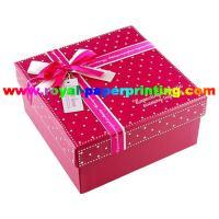 colorful lid and base cosmetic / jewelry paper box printing