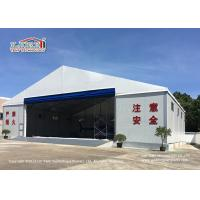 Buy cheap White Color Permanent Relocatable Aircraft Hangars 25 X 50 Side Hard Wall from wholesalers
