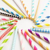 Buy cheap Party Favors Biodegradable Paper Drinking Straws / Fancy Straws For Drinks product