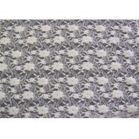 Buy cheap Ecological Standard White Brushed Lace Fabric For Wedding Dress , Embroidered product