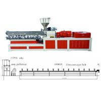 Buy cheap Plastic Twin Extruder Machine Conveyor Belt Pelletizing Without Water 220V / 380V / 480V product