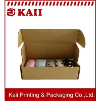 Buy cheap Ecofriendly Promotional Brown Kraft Paper Box / Corrugated Paper Box For Cloth Packing product